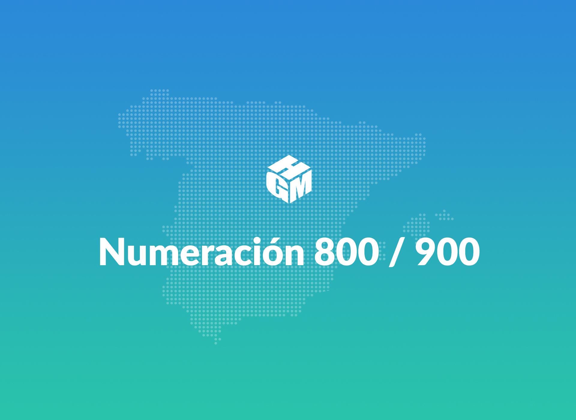 Numeración 800 - 900