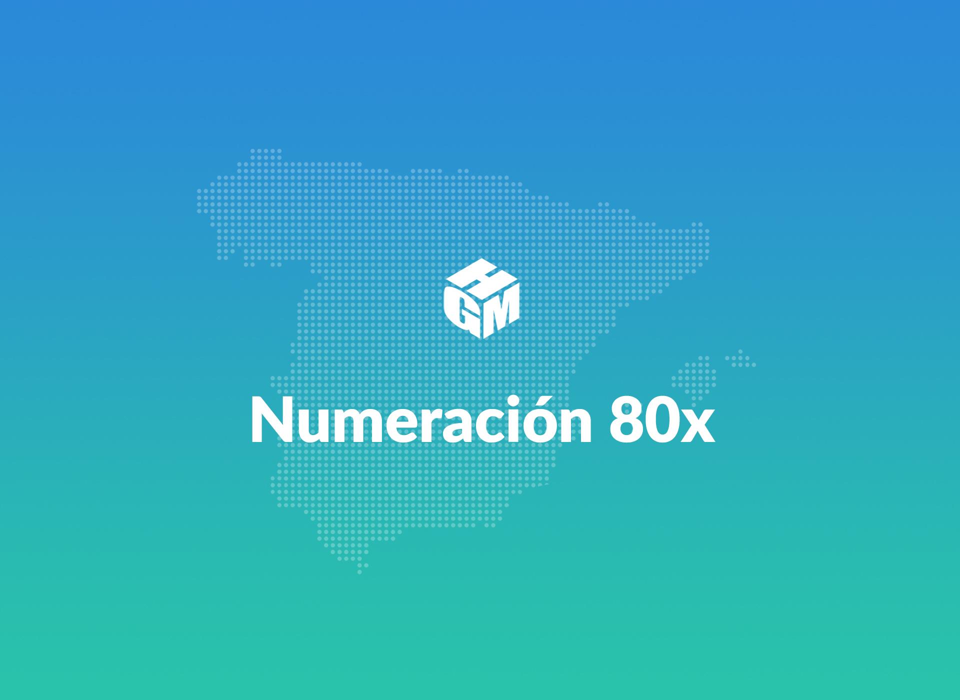 Numeración 80x