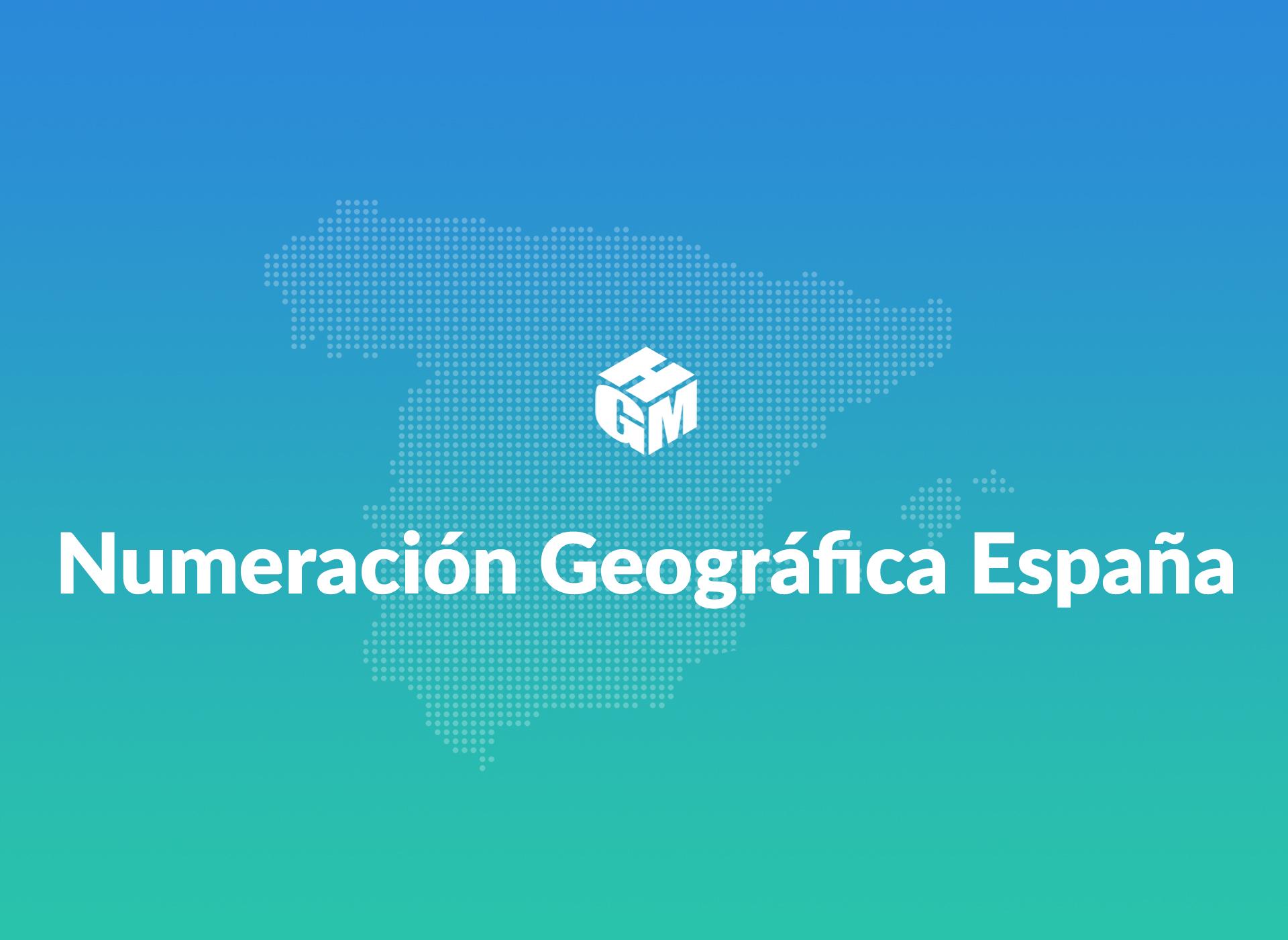 Numeración Geográfica de España